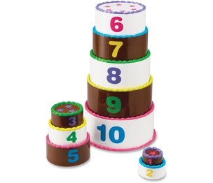 LEARNING RESOURCES/ED.INSIGHTS LER7312 Learning Resources LER7312 Smart Snacks Stack and Count Layer Cake by Smart Snacks