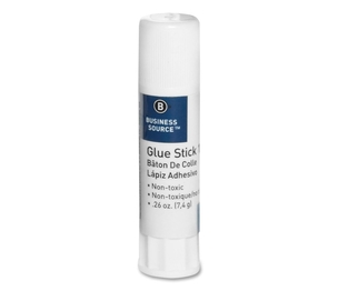 Business Source 15786 Glue Stick, Permanent, Acid-free, .26 oz., Clear by Business Source