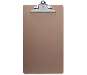 """Business Source 28554 Hardboard Clipboard, Nickel-Plated Clip, 9""""x15-1/2"""", Brown by Business Source"""