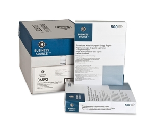 "Business Source 36592 Multipurpose Paper,20lb.,92 Bright,3HP,8-1/2""x11"",10RM/CT,WE by Business Source"