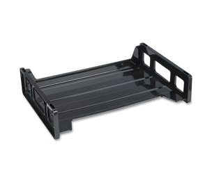"Business Source 42585 Stacking Tray, Side Load, 8-9/10""x13-1/5""x2-9/10"", Black by Business Source"