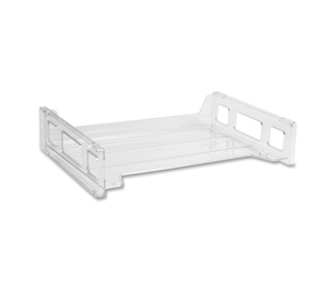 "Business Source 42587 Stacking Tray, Side Load, 8-9/10""x13-1/5""x2-9/10"", Crystal by Business Source"