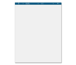 """Business Source 36585 Standard Easel Pads, Plain, 27""""x34"""", 50 Sheets, 2/CT, White by Business Source"""
