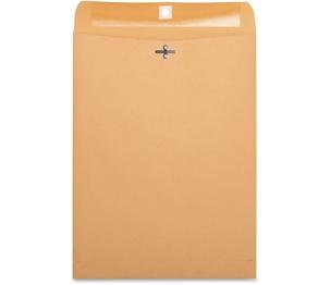 "Business Source 36663 Clasp Envelopes,28 lb.,9""x12"",100/BX,Brown Kraft by Business Source"