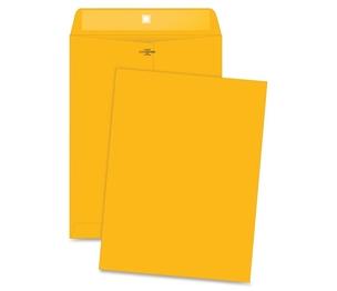 "Business Source 36664 Clasp Envelopes,28 lb.,9-1/2""x12-1/2"",100/BX,Brown Kraft by Business Source"