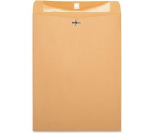 "Business Source 36665 Clasp Envelopes,28 lb.,10""x13"",100/BX,Brown Kraft by Business Source"