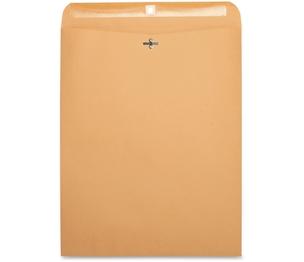 "Business Source 36667 Clasp Envelopes,28 lb.,12""x15-1/2"",100/BX,Brown Kraft by Business Source"