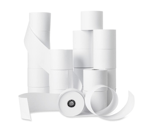 "Business Source 28625 Machine Receipt Rolls, Single-Ply, 2-1/4""x150', 100/CT, WE by Business Source"