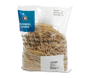 """Business Source 15737 Rubber Bands,Size 19,1 lb./BG,3-1/2""""x1/16"""",Natural Crepe by Business Source"""