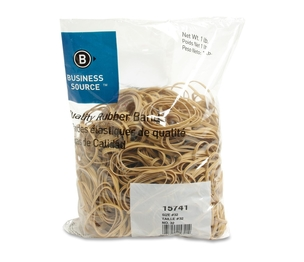 "Business Source 15741 Rubber Bands,Size 32,1 lb./BG,3""x1/8"",Natural Crepe by Business Source"
