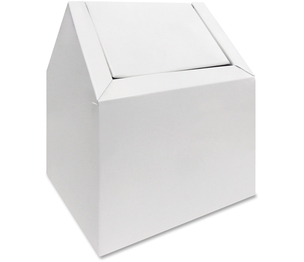 Hospital Specialty Company 2201 Double Entry, Swing Top Floor Receptacle, White by Hospeco