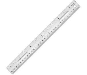 "Business Source 32365 Plastic Ruler, Bevelled Edges, 12""L, White by Business Source"
