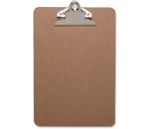 "Business Source 16506 Clipboard, w/ Standard Metal Clip, 6""x9"", Brown by Business Source"
