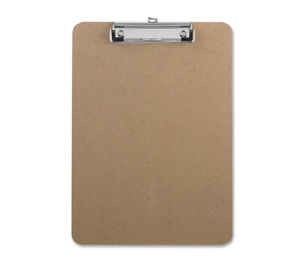 """Business Source 16508 Clipboard,w/Flat Clip/Rubber Grips,9""""x12-1/2"""",Brown by Business Source"""