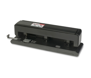 Business Source 62878 Hole Punch, 2-3 Holes, 40 Sh Capacity, Black by Business Source