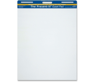 PACON CORPORATION 104390 Present-It Pad, The Easel Pad That Sticks!, 27 x 34, White, 2/Carton by The Present-It