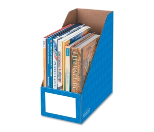 "Fellowes, Inc 3380801 Magazine File Holder, Ltr, 6""x11-3/4""x12-3/4"", Blue by Bankers Box"