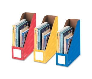 "Fellowes, Inc 3381701 Magazine File Holders, Ltr, 4""x11""x12-1/4"", 3/PK, Ast by Bankers Box"