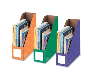 "Fellowes, Inc 3381801 Magazine File Holders, Ltr, 4""x11""x12-1/4"", 3/PK, Ast by Bankers Box"