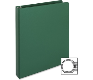 "Business Source 28556 Round Ring Binder, 1"" Capacity, 11""x8-1/2"", Green by Business Source"