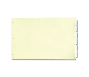 "Stride, Inc 62200 Index Dividers,w/ Clear Tabs,11""x17"",5 Tabs/ST, Manila by Stride"