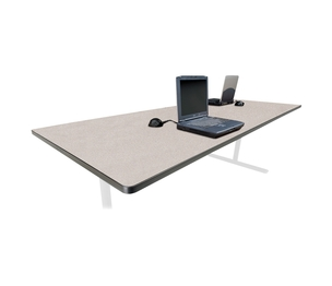 Rectangular Conference TablexxGray Nebula Top By Bretford - 42 x 96 conference table