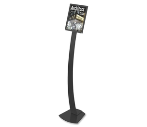 """Deflecto Corporation 693204 Sign Stands, Holds 8-1/2""""x11"""", 12""""x12""""x56"""", Black by Deflect-o"""