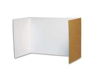 """PACON CORPORATION 3782 Privacy Board, 48""""x16"""", 4/PK, White by Pacon"""