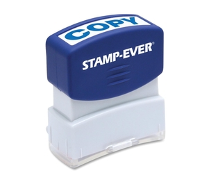 "U.S. Stamp & Sign 5945 Stamp, Pre-Inked, ""Copy"", 9/16""x1-11/16"" Imp, Blue by U.S. Stamp & Sign"