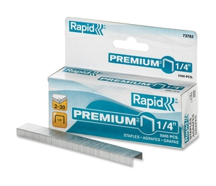 Rapid 73782 Premium Staples, Chisel Pt, 210 Strip, 5000/Box by Rapid