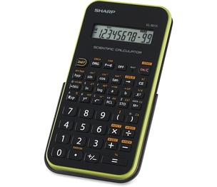 "Sharp Electronics EL-501XBGR Scientific Calculator,10-Dig,131-Func,3-1/4""x6""x1/2"",BK/GN by Sharp"