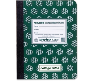 """Roaring Spring Paper Products 77284 Composition Book, College Ruled, 9-3/4""""x7-1/2"""", 80 Shts/Ct by Roaring Spring"""