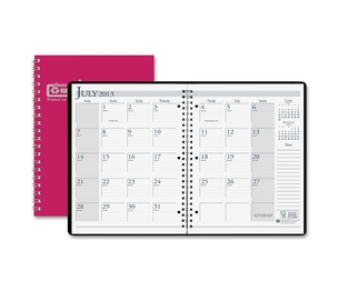 "HOUSE OF DOOLITTLE 26305 Academic Monthly Planner, 14 Mos, 8-1/2""x11"", Red by House of Doolittle"