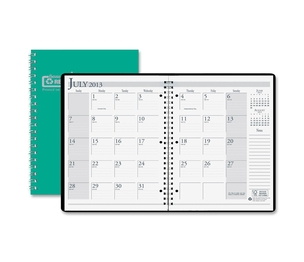 "HOUSE OF DOOLITTLE 26309 Academic Monthly Planner, 14 Mos, 8-1/2""x11"", Green by House of Doolittle"