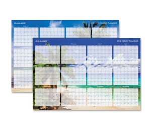 "ACCO Brands Corporation DMWTEE28 Tropical Wall Calendar,Erasable,12 Month Jan-Dec, 24""x36"",BE by At-A-Glance"