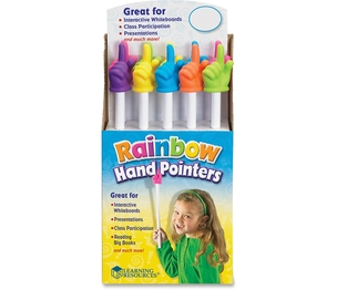LEARNING RESOURCES/ED.INSIGHTS LER1968 Rainbow Hand Pointers Set Of 10 Pop by Learning Resources