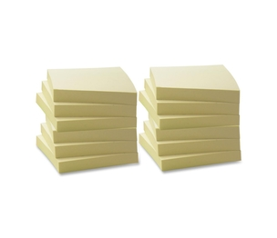 """Business Source 36620 Recycled Adhesive Note Pads, 3""""x3"""", 12/PK, Yellow by Business Source"""