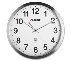 "PM Company, LLC 61001 Atomic Wall Clock, 11-3/4"", Chrome by Lorell"