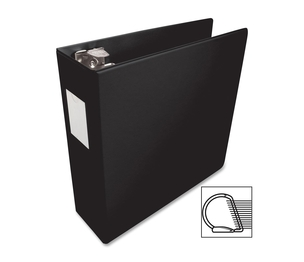"Business Source 33113 D-Ring Binder, w/Label Holder, Hvy-Dty, 3"", Black by Business Source"