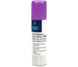 Business Source 34289 Glue Stick, Value Pack, Solid, Dries Clear,.26oz.,18/PK, PE by Business Source