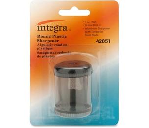 "Integra 42851 Pencil Sharpener, Single Hole, Plastic, 1-7/8"", Smoke/BK by Integra"