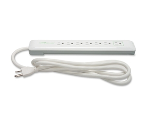 Compucessory 09853 Surge Protector, 7-Outlet, 1080 Joules, 6' Cord, White by Compucessory