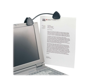 "ACCO Brands Corporation 62081 Flex Clip Copyholder, 9-3/4""x1-1/2""x1-3/4"", Black by Kensington"