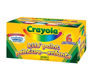 Crayola, LLC 54-1204 Washable Paint, 2 oz., 6/BX, Assorted by Crayola