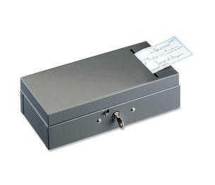"MMF INDUSTRIES 221104201 Bond Box, w/ Check Slot, Steel, 10-1/4""x4-3/4""x2-7/8"", Grey by MMF"