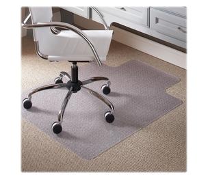 "Carson-Dellosa Publishing Co., Inc 120123 Low Pile Chairmat, Cleats, Lip 25""x12"", 45""x53"", Clear by ES Robbins"