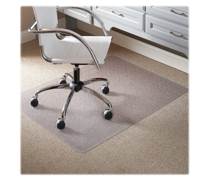 """ES ROBBINS CORPORATION 120321 Low Pile Chairmat, Cleats, Rectangular, 46""""x60"""", Clear by ES Robbins"""