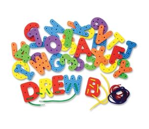 The Chenille Kraft Company 4466 Creativity Street WonderFoam Lacing Letters Numbers by WonderFoam