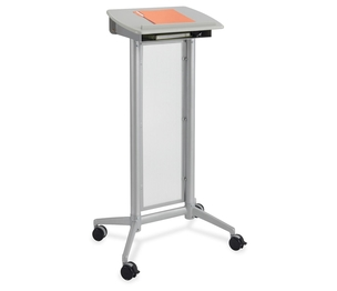 """Safco Products 8912GR Impromptu Lectern, 26-1/2""""x18-3/4""""x46-1/2"""", Gray by Safco"""