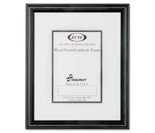 "National Industries For the Blind 7105000528690 Wood Frame, Enamel, 8""x10"", 12/BX, Black by SKILCRAFT"